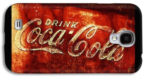 Coca-cola Signs Galaxy S4 Cases - Antique Coca-Cola Cooler II Galaxy S4 Case by Stephen Anderson