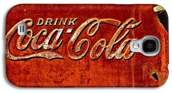Coca-cola Signs Galaxy S4 Cases - Antique soda cooler 3 Galaxy S4 Case by Stephen Anderson