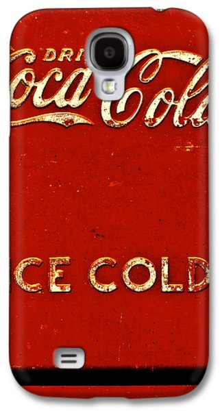 Coca-cola Signs Galaxy S4 Cases - Antique soda cooler 6 Galaxy S4 Case by Stephen Anderson