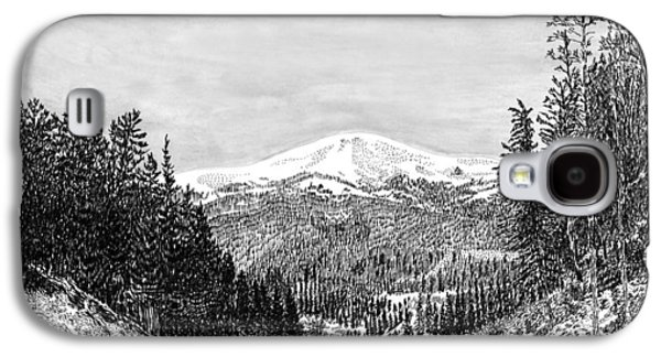 Pen And Ink Framed Prints Galaxy S4 Cases - Apache Summit Siera Blanco Galaxy S4 Case by Jack Pumphrey