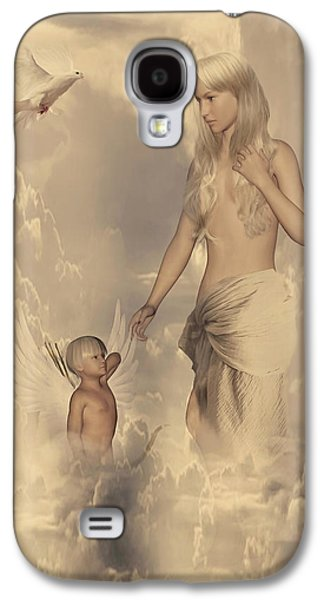 Cupid Galaxy S4 Cases - Aphrodite and Eros Galaxy S4 Case by Lourry Legarde