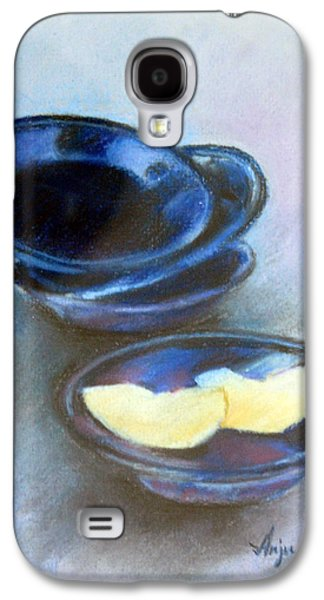 Etc. Pastels Galaxy S4 Cases - Apple on Plates Galaxy S4 Case by Anju Saran