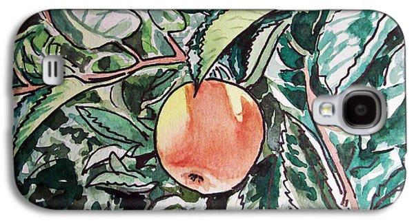 Apple Tree Sketchbook Project Down My Street Galaxy S4 Case by Irina Sztukowski