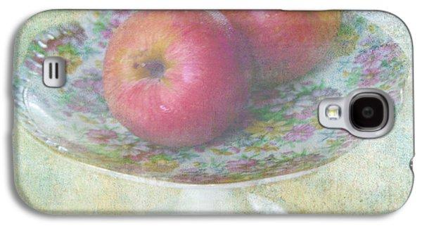 Sunny Mixed Media Galaxy S4 Cases - Apples still life print Galaxy S4 Case by Svetlana Novikova