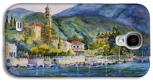 Lake Como Paintings Galaxy S4 Cases - Approaching Bellagio Galaxy S4 Case by Betsy Aguirre
