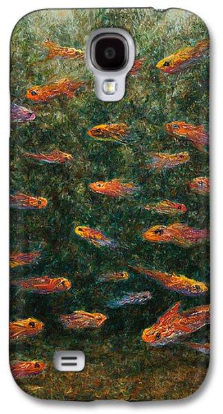 Aquarium Fish Galaxy S4 Cases - Aquarium Galaxy S4 Case by James W Johnson