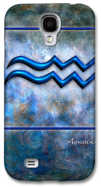 Abstract Digital Pyrography Galaxy S4 Cases - Aquarius  Galaxy S4 Case by Mauro Celotti