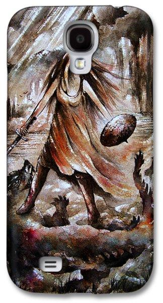 Angels Drawings Galaxy S4 Cases - Archangel Galaxy S4 Case by Rachel Christine Nowicki