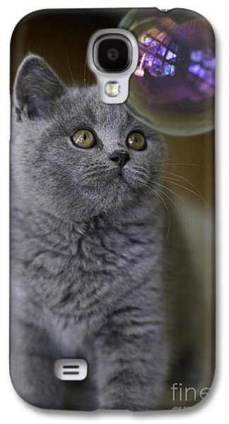 Mother Galaxy S4 Cases - Archie with bubble Galaxy S4 Case by Sheila Smart