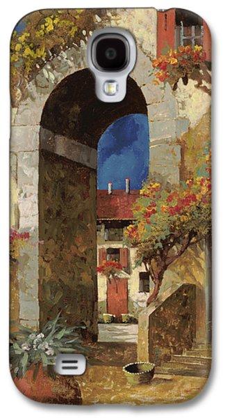 Vase Paintings Galaxy S4 Cases - Arco Al Buio Galaxy S4 Case by Guido Borelli