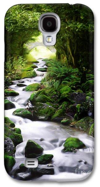 Painter Digital Art Galaxy S4 Cases - Arden Bridge Galaxy S4 Case by John Edwards