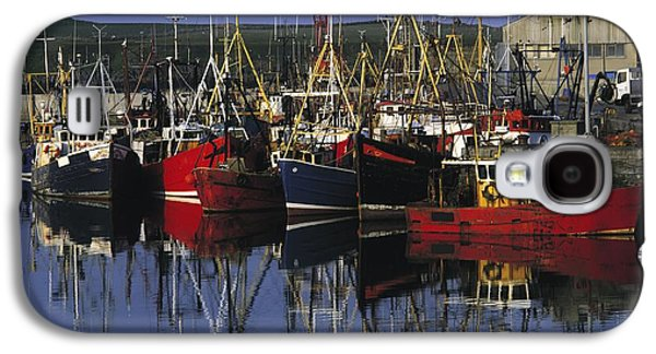 Boats In Reflecting Water Galaxy S4 Cases - Ardglass, Co Down, Ireland Fishing Galaxy S4 Case by The Irish Image Collection