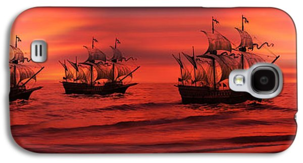 Tall Ship Galaxy S4 Cases - Armada Galaxy S4 Case by Lourry Legarde