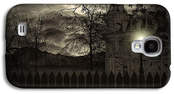 Haunted House Digital Art Galaxy S4 Cases - Arrival Galaxy S4 Case by Lourry Legarde
