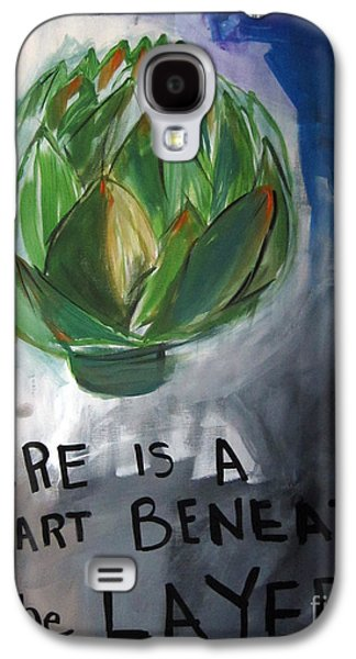 Poetry Galaxy S4 Cases - Artichoke Galaxy S4 Case by Linda Woods