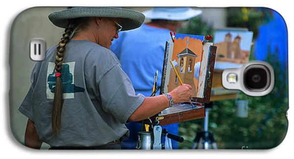 Painter Photo Photographs Galaxy S4 Cases - Artists At Work In Taos Galaxy S4 Case by Bob Christopher