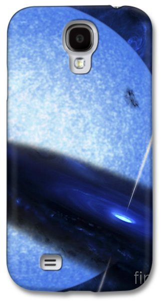 Jet Star Galaxy S4 Cases - Artists Concept Of Cygnus X-1 Galaxy S4 Case by Fahad Sulehria