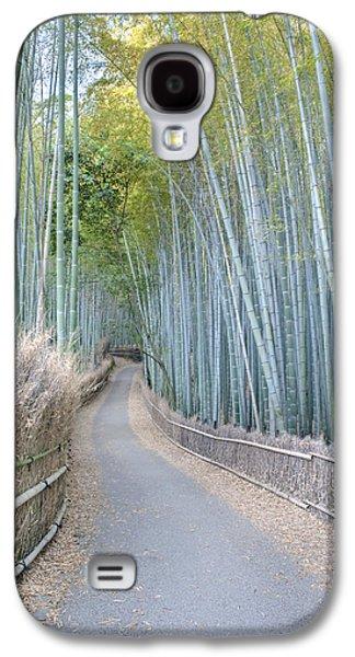 Bamboo Fence Galaxy S4 Cases - Asia Japan Kyoto Arashiyama Sagano Galaxy S4 Case by Rob Tilley