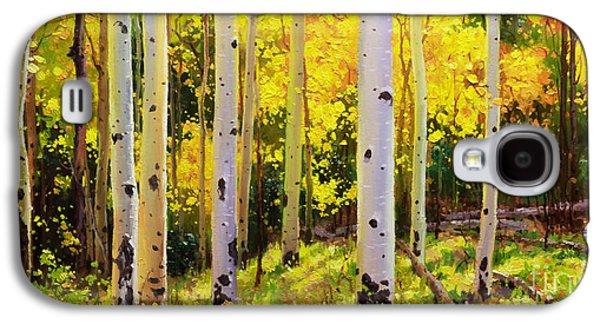 Autumn Foliage Galaxy S4 Cases - Aspen Symphony Galaxy S4 Case by Gary Kim