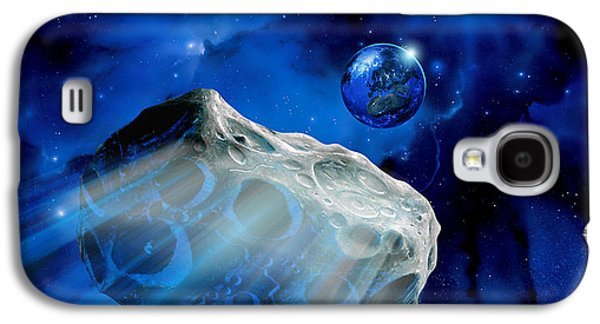 Planetoid Galaxy S4 Cases - Asteroid Approaching Earth Galaxy S4 Case by Detlev Van Ravenswaay