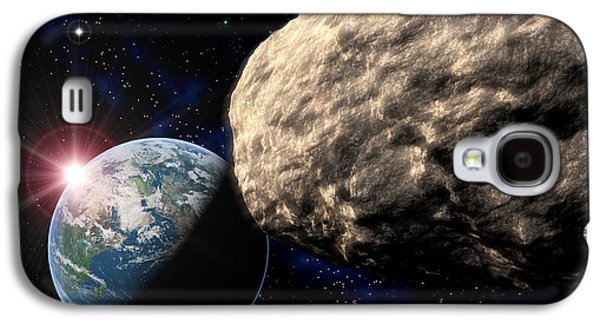 Planetoid Galaxy S4 Cases - Asteroid Approaching Earth Galaxy S4 Case by Roger Harris
