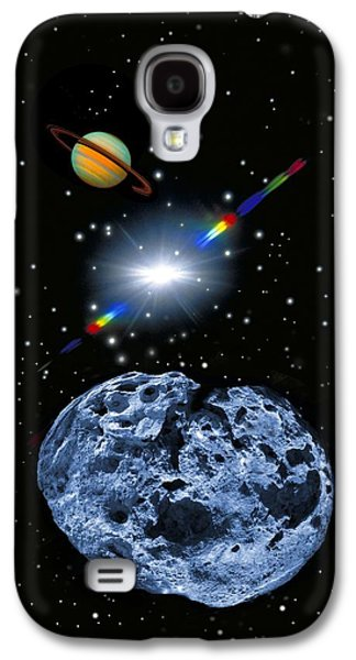 Planetoid Galaxy S4 Cases - Asteroid, Artwork Galaxy S4 Case by Tony Craddock