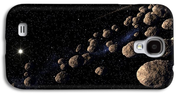 Planetoid Galaxy S4 Cases - Asteroid Belt Galaxy S4 Case by Roger Harris