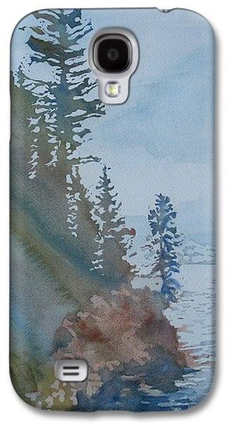 Wyoming Paintings Galaxy S4 Cases - At The Waters Edge Galaxy S4 Case by Jenny Armitage