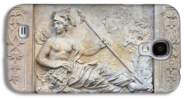 Warrior Goddess Photographs Galaxy S4 Cases - Athena Relief in Gdansk Galaxy S4 Case by Artur Bogacki