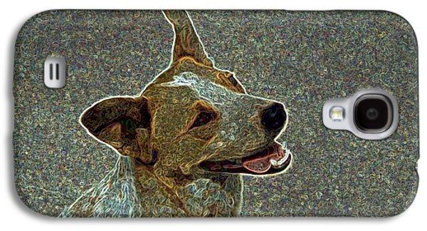 Puppy Digital Art Galaxy S4 Cases - Australian Cattle Dog Mix Galaxy S4 Case by One Rude Dawg Orcutt