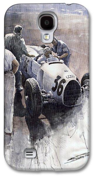 B Galaxy S4 Cases - Auto Union B type 1935 Italian GP Monza B Rosermeyer Galaxy S4 Case by Yuriy  Shevchuk