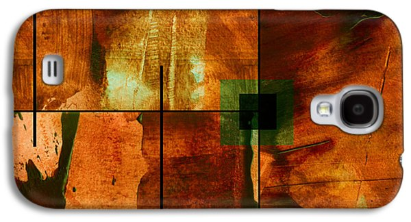 Abstract Digital Mixed Media Galaxy S4 Cases - Autumn Abstracton Galaxy S4 Case by Ann Powell