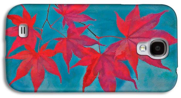 Autumn Leaf On Water Galaxy S4 Cases - Autumn Crimson Galaxy S4 Case by William Jobes