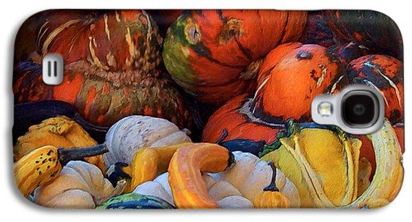 Harvest Art Galaxy S4 Cases - Autumn Harvest Galaxy S4 Case by Carol Cavalaris