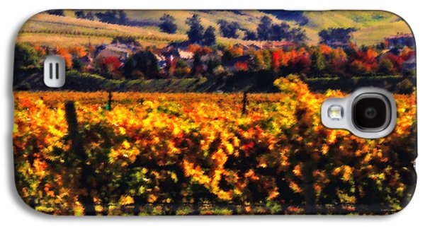 California Vineyard Galaxy S4 Cases - Autumn in the Valley 2 - Digital Painting Galaxy S4 Case by Carol Groenen