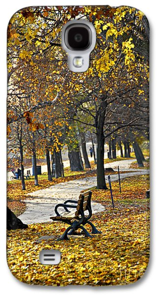 Sports Photographs Galaxy S4 Cases - Autumn park in Toronto Galaxy S4 Case by Elena Elisseeva