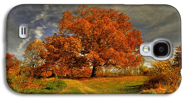 Autumn Landscape Digital Art Galaxy S4 Cases - Autumn Picnic on the Hill Galaxy S4 Case by Lois Bryan