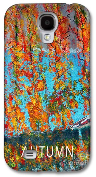 Canoe Mixed Media Galaxy S4 Cases - Autumn Galaxy S4 Case by Raquel Bright