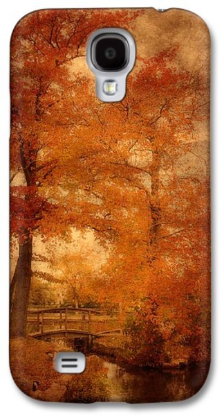 Photo Manipulation Galaxy S4 Cases - Autumn Tapestry - Lake Carasaljo Galaxy S4 Case by Angie Tirado