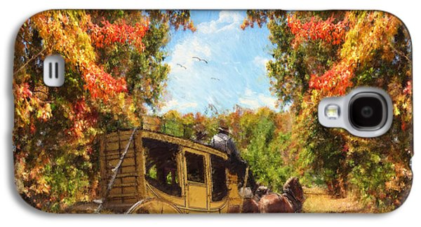 Horse And Cart Digital Galaxy S4 Cases - Autumns Essence Galaxy S4 Case by Lourry Legarde