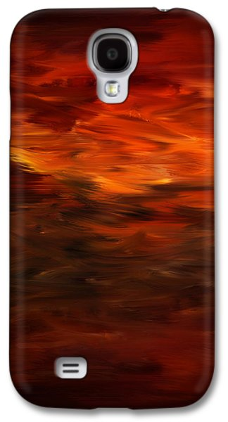 Cherry Blossoms Galaxy S4 Cases - Autumns Grace Galaxy S4 Case by Lourry Legarde