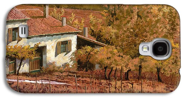 Autumn Landscape Galaxy S4 Cases - Autunno Rosso Galaxy S4 Case by Guido Borelli