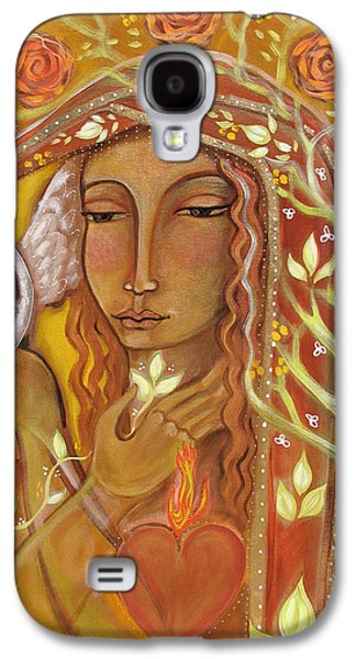 Visionary Paintings Galaxy S4 Cases - Awakening Galaxy S4 Case by Shiloh Sophia McCloud