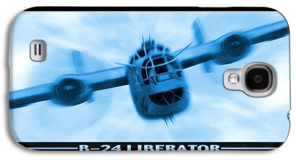 Warbird Galaxy S4 Cases - B-24 Liberator Galaxy S4 Case by Mike McGlothlen