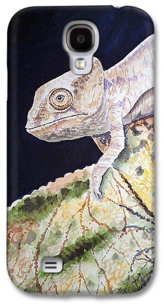 Chameleon Galaxy S4 Cases - Baby Chameleon Galaxy S4 Case by Irina Sztukowski