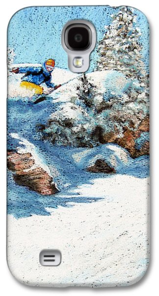 Landscape Acrylic Prints Pastels Galaxy S4 Cases - Backcountry Galaxy S4 Case by Abbie Groves