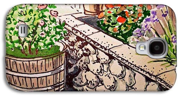 Backyard Sketchbook Project Down My Street Galaxy S4 Case by Irina Sztukowski