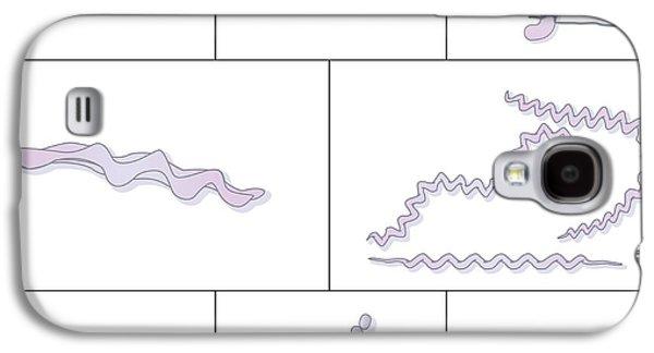 Prokaryote Galaxy S4 Cases - Bacteria Shapes, Artwork Galaxy S4 Case by Peter Gardiner