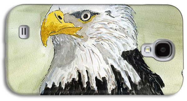 Wild Life Drawings Galaxy S4 Cases - Bald Eagle Galaxy S4 Case by Eva Ason