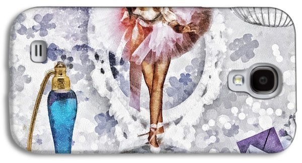 Girl Galaxy S4 Cases - Ballerina Galaxy S4 Case by Mo T